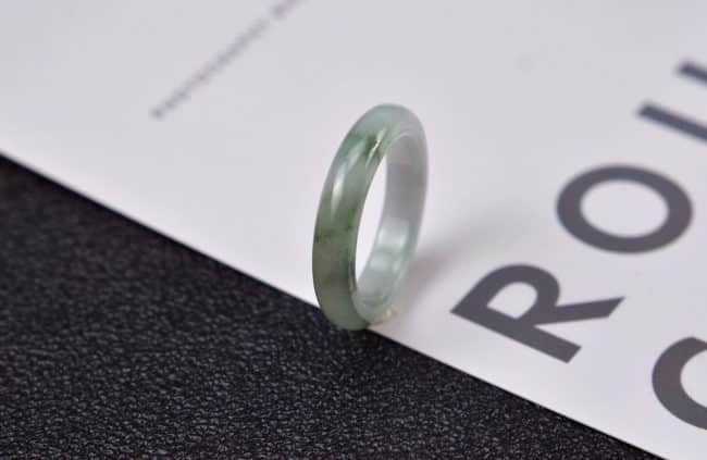 Helen Grade A Jade Jade rings stone band ring black 20 mm G10 G10