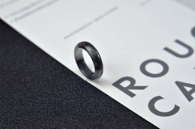 Helen Grade A Jade Jade rings stone band ring black 18.1 mm G20 G20