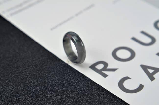 Helen Grade A Jade Jade rings stone band ring black 17.9mm G21 G21
