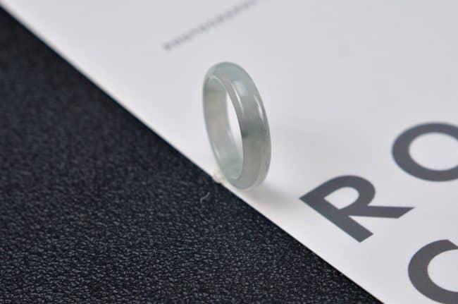 Helen Grade A Jade Jade rings stone band ring black 18.2 mm G22 G22