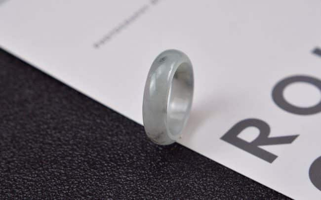 Helen Grade A Jade Jade rings stone band ring black 19 mm G15 G15
