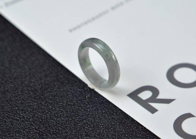 Helen Grade A Jade Jade rings stone band ring black 18 mm G23 G23