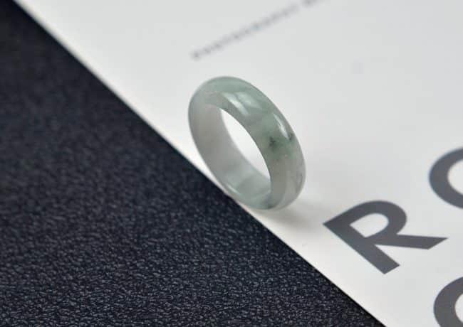 Helen Grade A Jade Jade rings stone band ring black 19.1 mm G27 G27